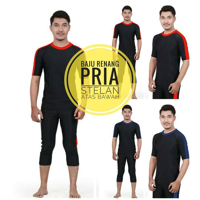 Rp195.000HARGA SPESIAL!!! ukuran M-XL Baju renang laki-laki pria dewasa diving panjang - BjYoc3