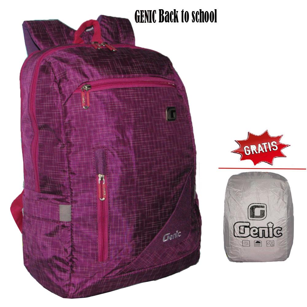 Dompet Backpack Tas Koper Genic Daftar Harga Timbuk2 Q Pack Hijau Anak Ransel Sekolah Unisex Back To School Casual Ungu