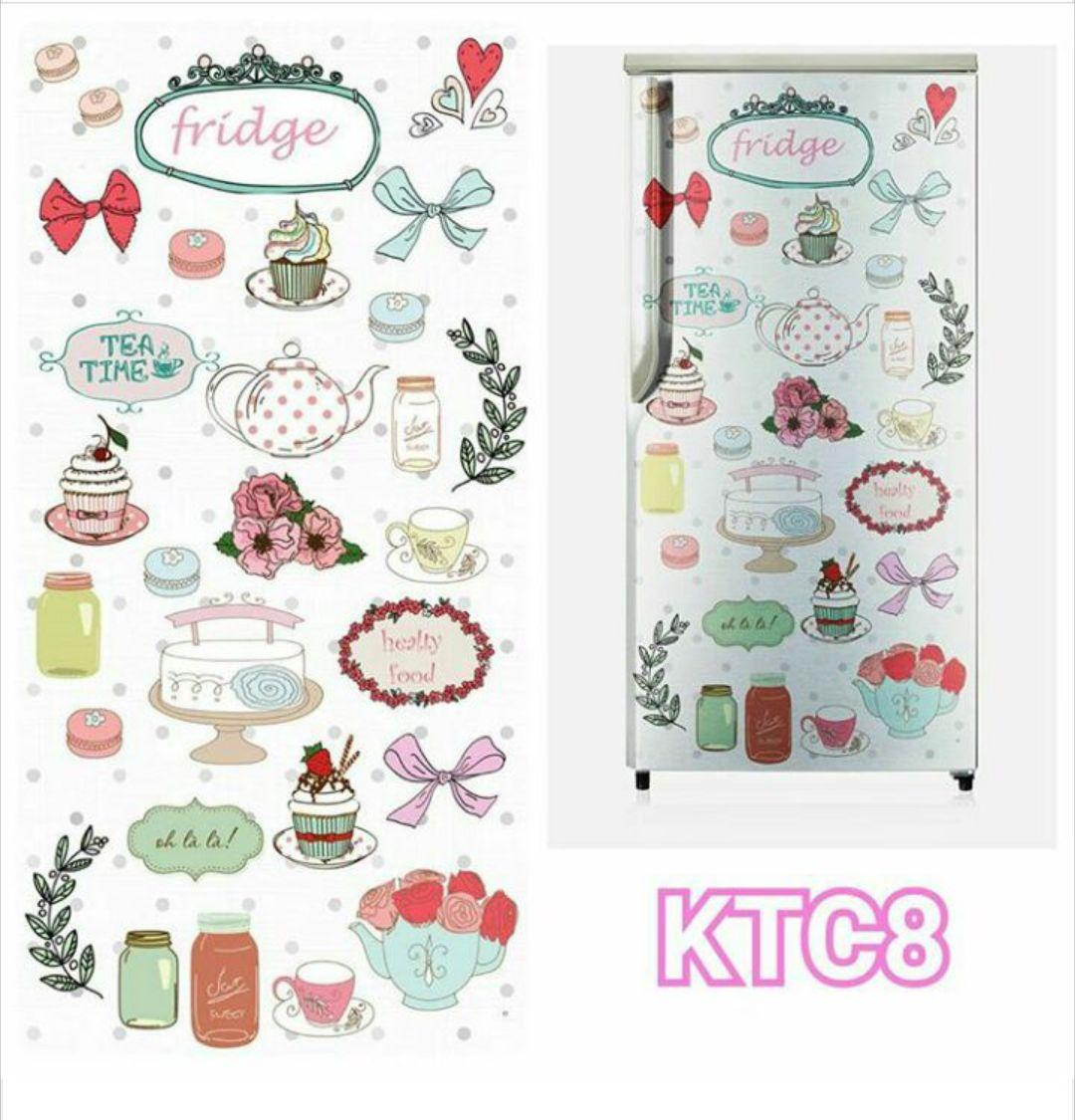 Stiker Kulkas 1 Pintu Wallpaper Kulkas 1 Pintu Motif And Karakter FRIDGE / OLALA ( KTC8 )