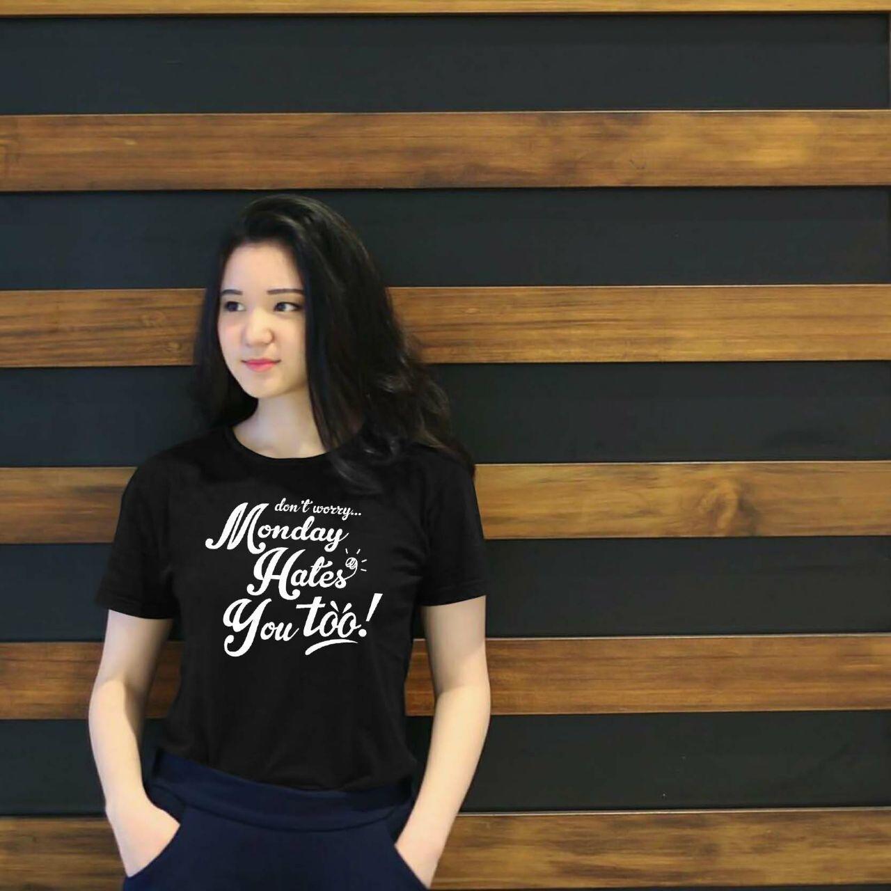 XV Kaos Wanita tee HATES YOU / T-shirt Distro Wanita / Baju Atasan Kaos