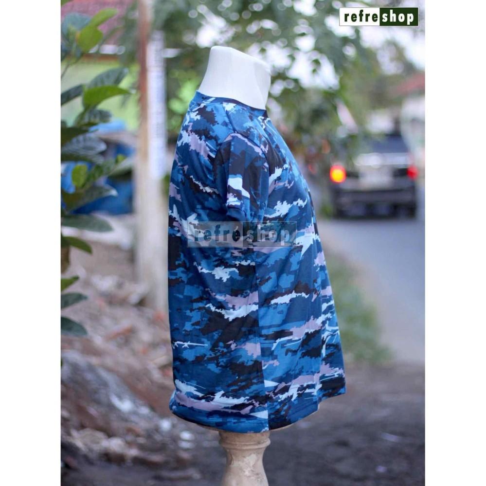 Kaos Tentara Lengan Pendek TNI Army Biru KLBS02DD