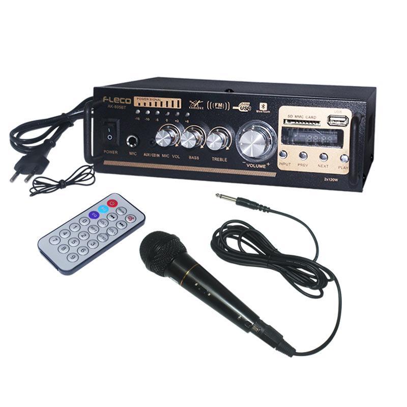 EELIC AMR-AK805BT MIX AUDIO POWER AMPLIFIER 12V BLUETOOTH USB/SD/FM/