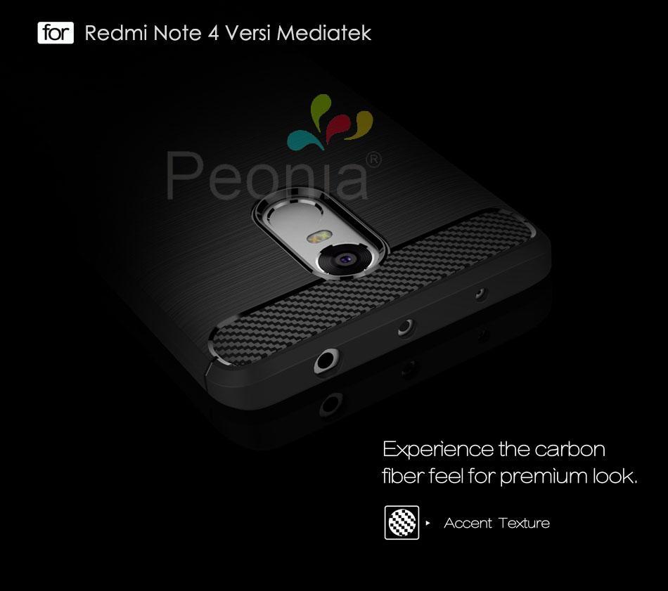 Peonia Premium Carbon Shockproof Hybrid Case For Xiaomi Redmi Note Transparent Acrylic 4x Snapdragon Tg Merah 7555cd88fd151515a6585a669e06162b