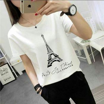 RICARDOF - Tshirt Paris / Tshirt Wanita / Atasan Wanita / Koleksi Terkini / Koleksi Wanita