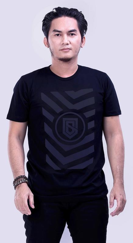 Gshp Kaos Pria - bahan cotton Bagus & berkualitas (hitam)