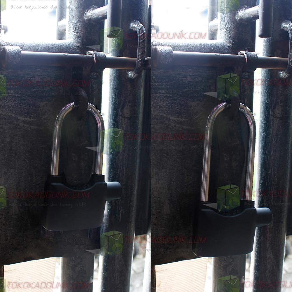 2 In 1 Gembok Alarm - Ring Panjang & Super Panjang Free Baterai | Lazada Indonesia