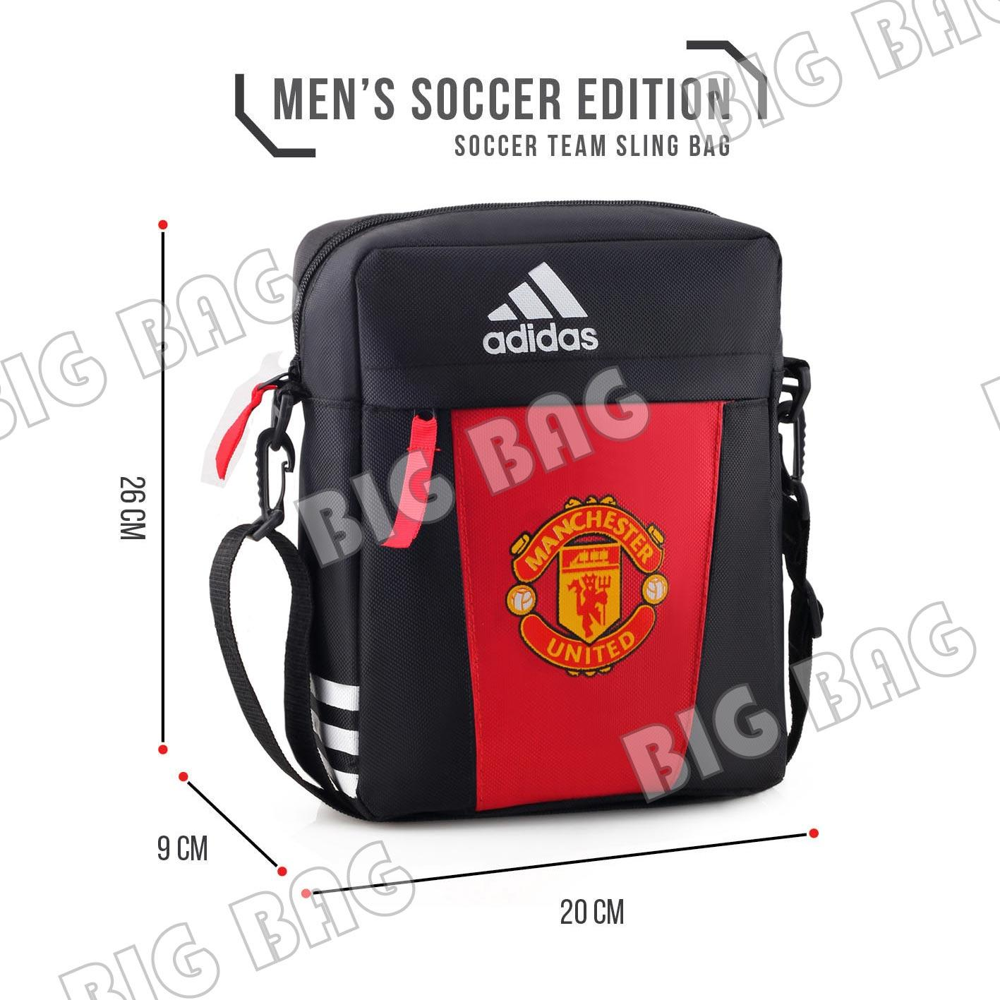 Tas Ransel Bola Sports Pria Adidas Bola Pria M U Chevrolet Laptop Backpack Red