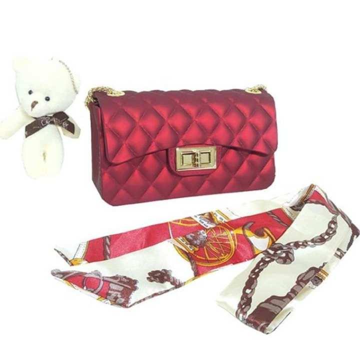harga Tas jelly matte mini jely import jeli free syal dan boneka semua warna Lazada.co.id