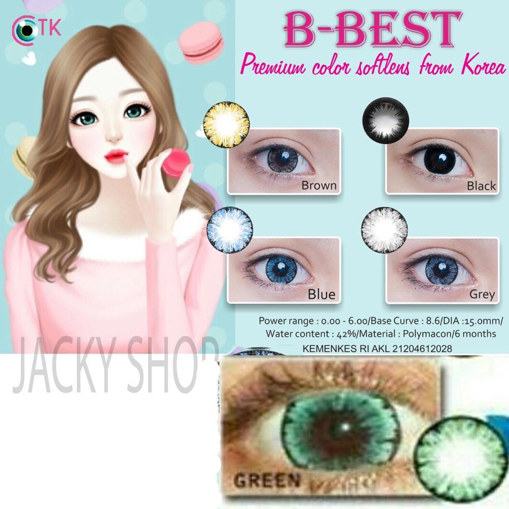 B-Best Softlens - Green + GRATIS Lenscase