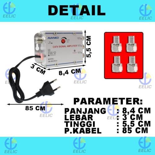 EELIC CSA-8620ED7 MIX PENGUAT SINYAL 20 dB CATV SIGNAL AMPLIFIER TV BROADBAND 1 INPUT