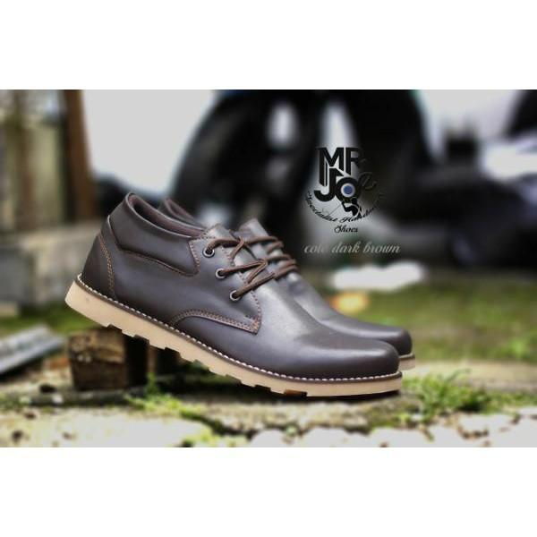 Sepatu Formal. Pria Casual Sneakers Slip On Kulit Asli Handmade Bandung Mr Joe Cole Dark Brown