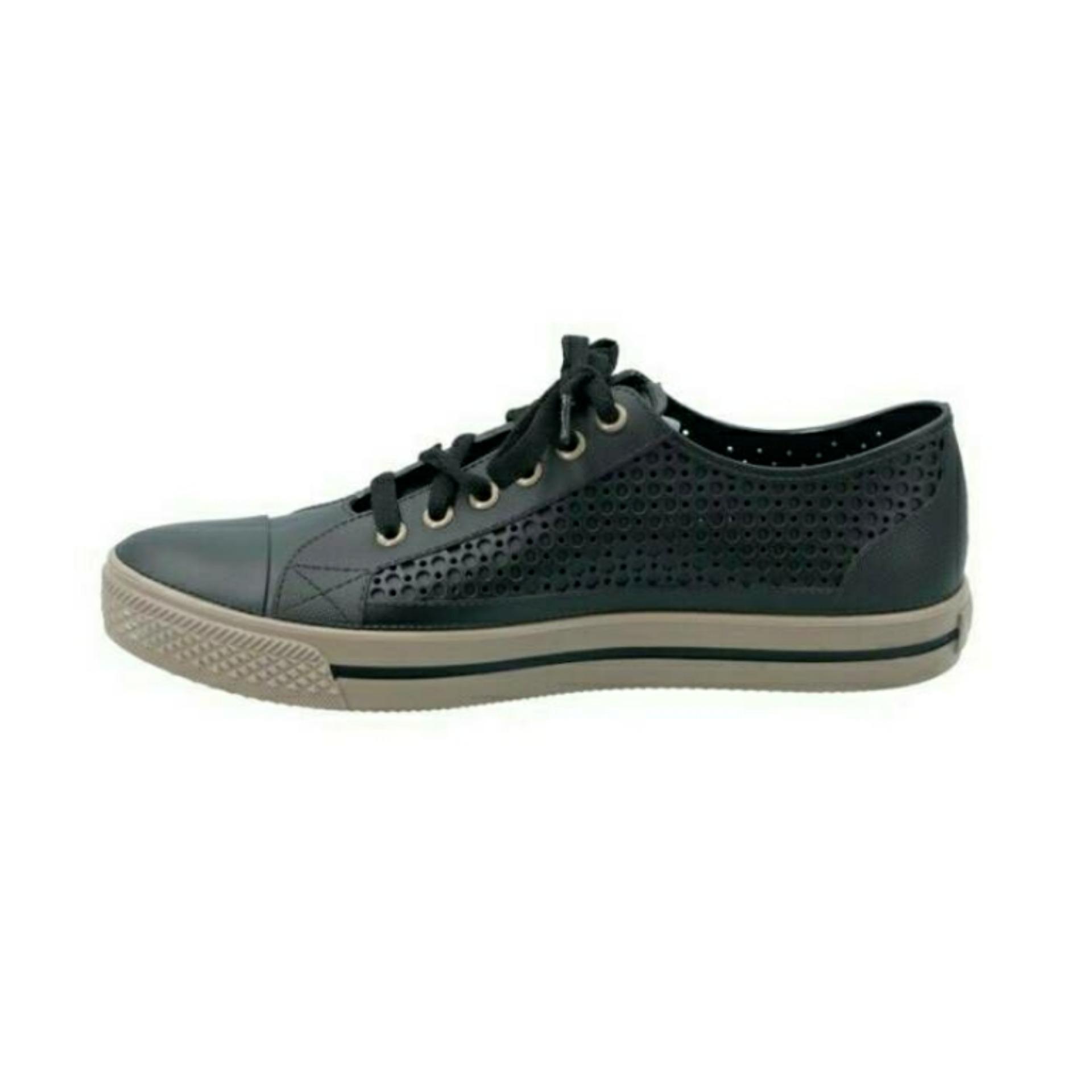 Ap Star HITAM COKLAT Sepatu Sekolah Unisex Sepatu Karet Sneakers Murah  BLACK CAMEL ApBoots