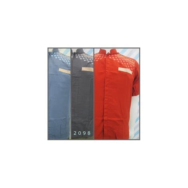 Baju Muslim Pria Dewasa 2098 standar Katun Triji Lengan pendekRp56.000