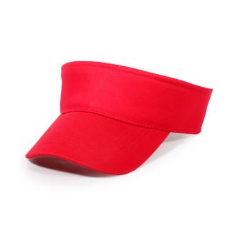 JANGO Wanita Polos Kedok Sun Topi Topi Olahraga Tenis Disesuaikan  Perekatnya Topi Pantai (Merah) 0801ac6feb