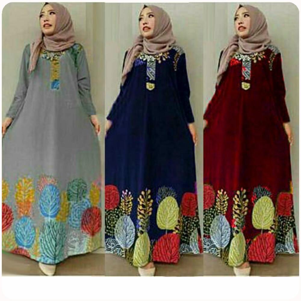 Hsnfashion Dress Wanita Dress Casual Pakaian Wanita Baju Cewek ... 62cb02be56
