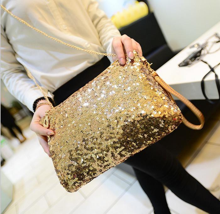 Tas Pesta Wanita Payet Kopling Malam Tas Jinjing Hitam Source · Women Clutch Sequins Glitter Sparkling