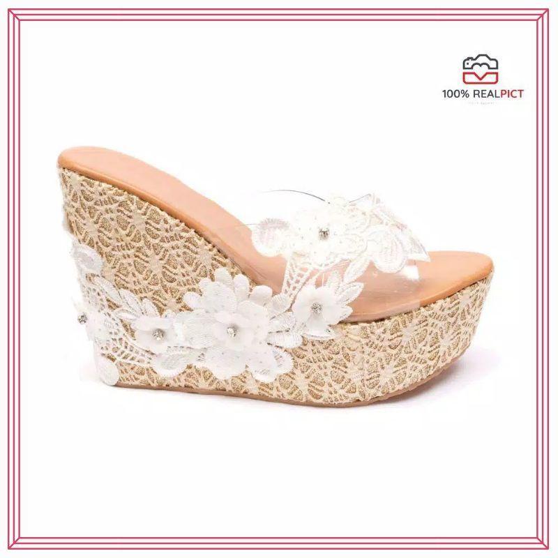 Wedges Joan Cream / Wedges Murah / Wedges Ivory / Wedges Sandal / Sepatu Wedges / Wedges KerenRp79.900