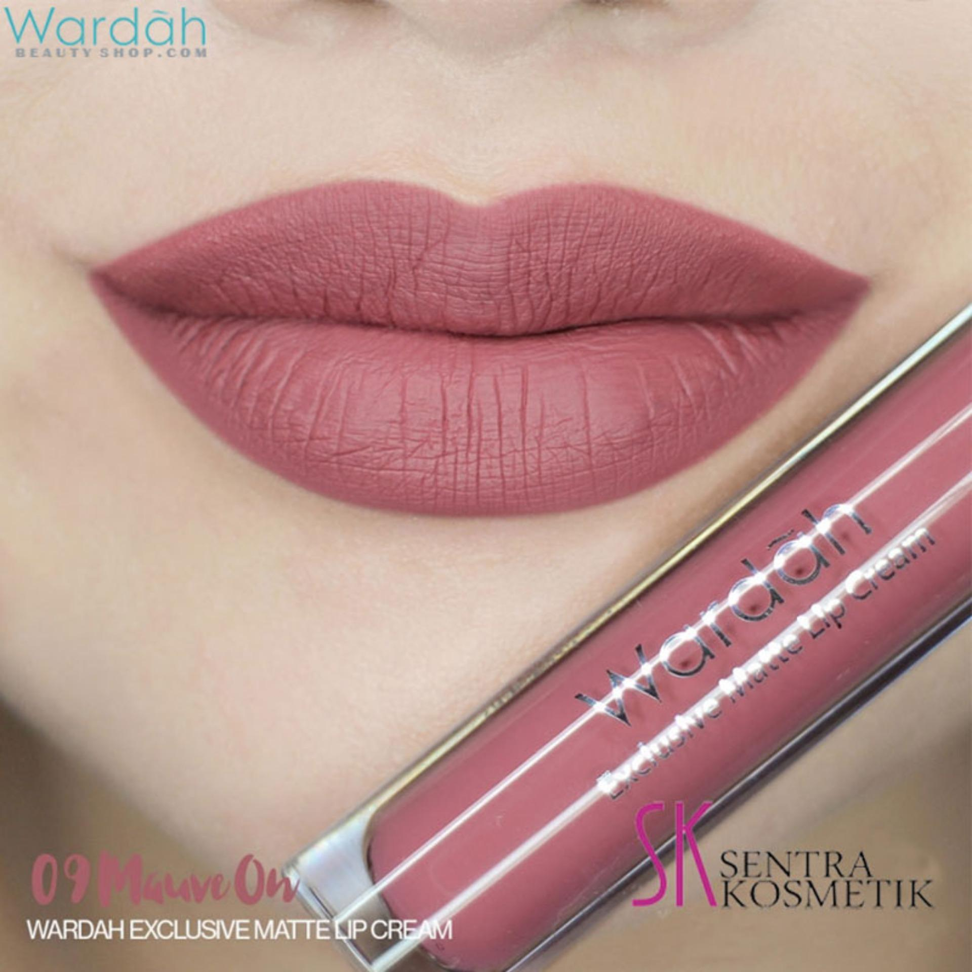 Wardah Exclusive Matte Lip Cream 09 Sembilan Mauve On Lazada