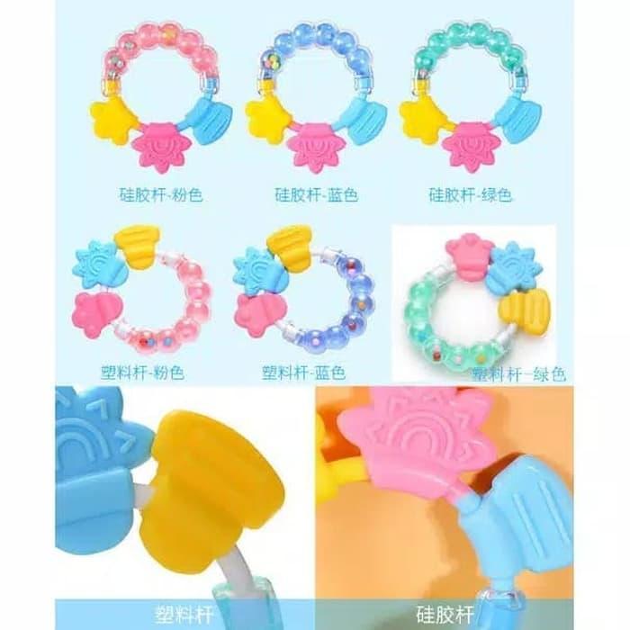 Mainan gigitan bayi kerincing / baby teether toys / Mainan Gigitan Bayi Murah Terbaru