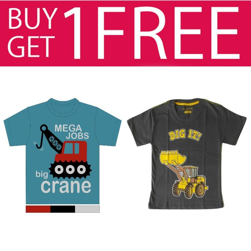 Kaos Anak Karakter - Mega Job Free Dig It Grey