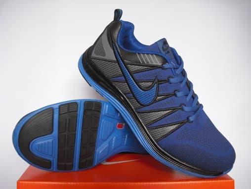 Sepatu Running Man Lunar2 (Blue Black)