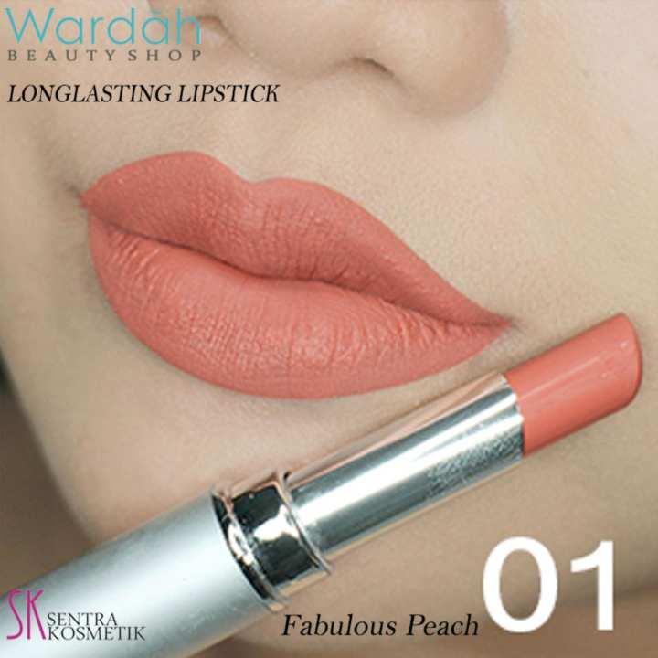 Wardah LONGLASTING Lipstick No.01 Fabulous Peach | Lazada
