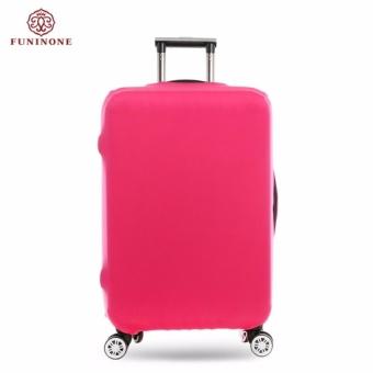 BSI Menebal Anti-Debu Travel Luggage Cover Pelindung Elastis Solidcolor Koper Cover Ukuran S Terapkan untuk 18-20 Inch Koper (Rose) -Intl