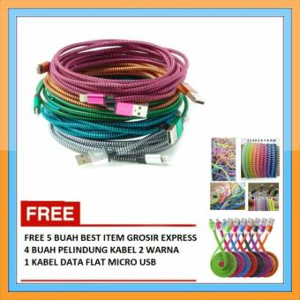 ... 1 Buah Kabel Aux Flat Colour 3 5 mm. Source · Kabel Data Tali Sepatu Bulat Iphone 5 - Multicolour + Free 4 Buah Pelindung Kabel 2