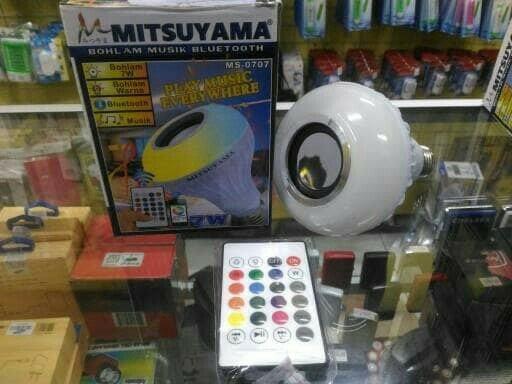 Speaker Bluetooth Lampu bohlam mitsuyama ms-0707 - Lampu Bluetooth