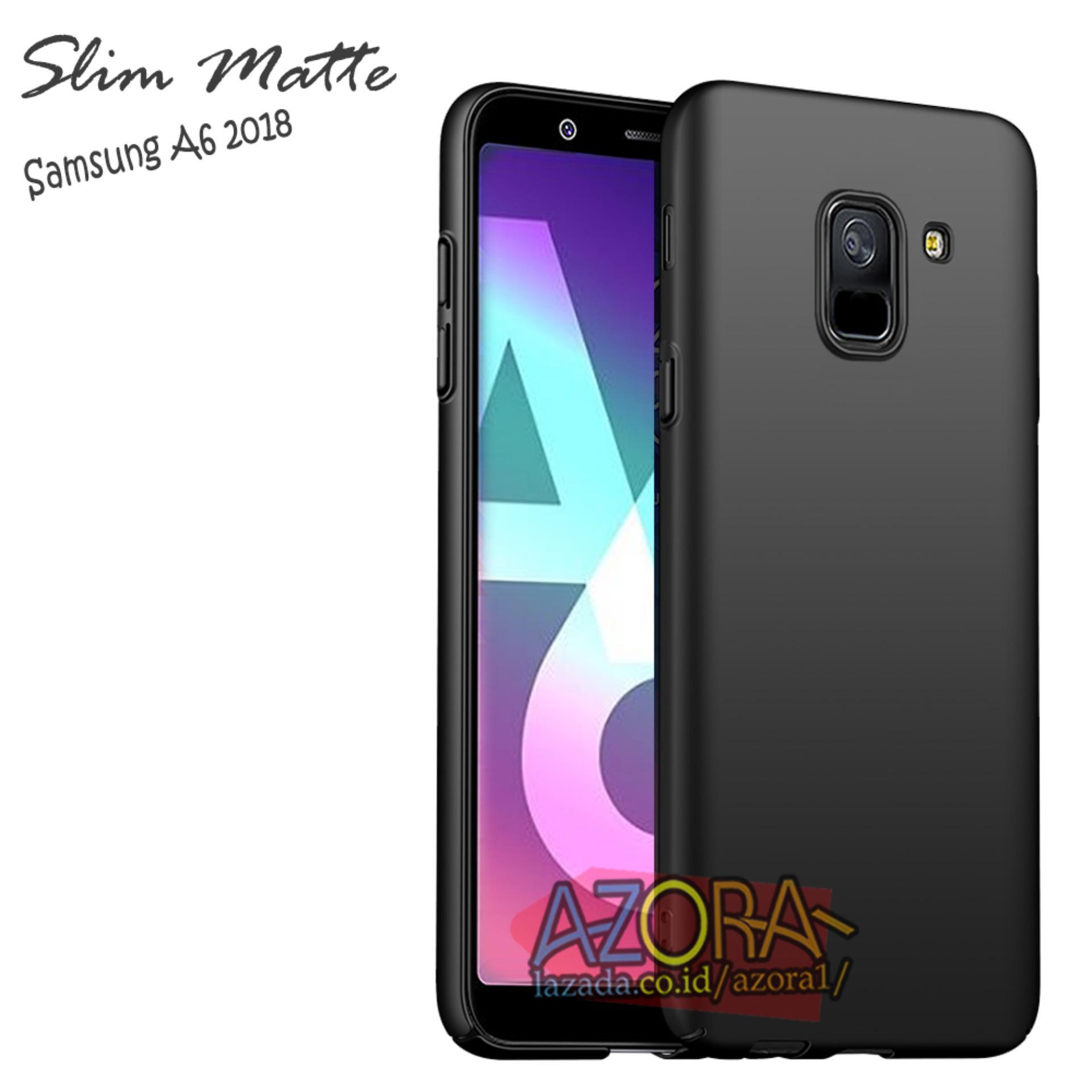 Case Slim Black Matte Samsung Galaxy A6 2018 Baby Skin Softcase Ultra Thin Jelly Silikon Babyskin