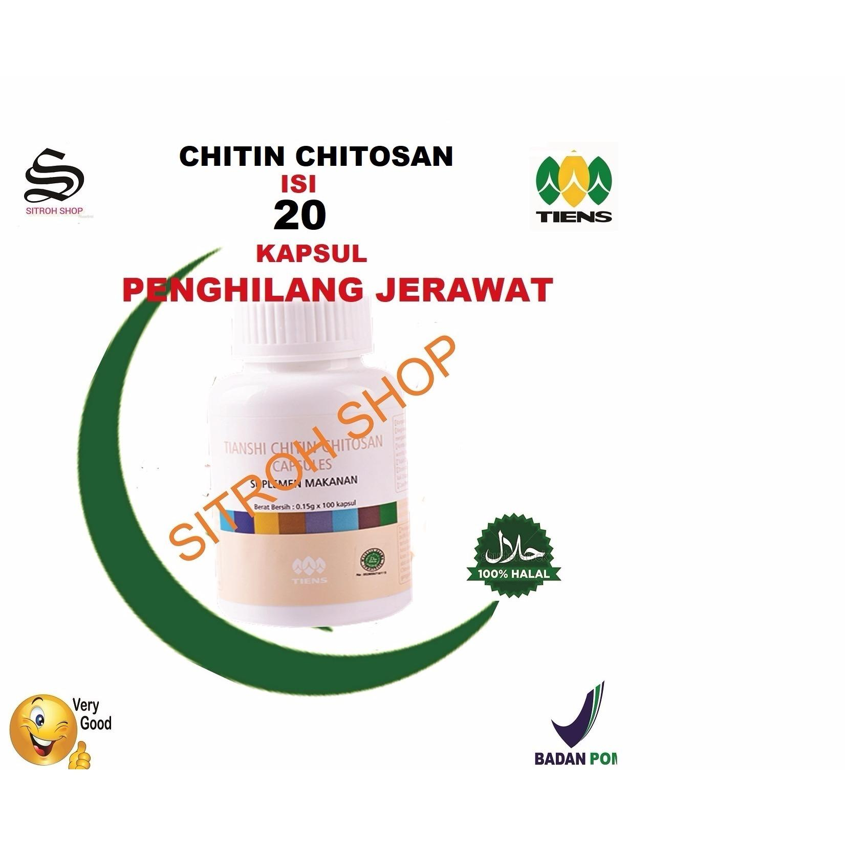 tiens masker wajah chitkin chitosan membantu masalah wajah isi 20 free kuas cantik kapsul by SITROH