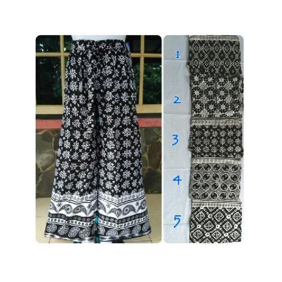 Celana Kulot batik Dewasa bahan Katun Rayon Jumbo 2