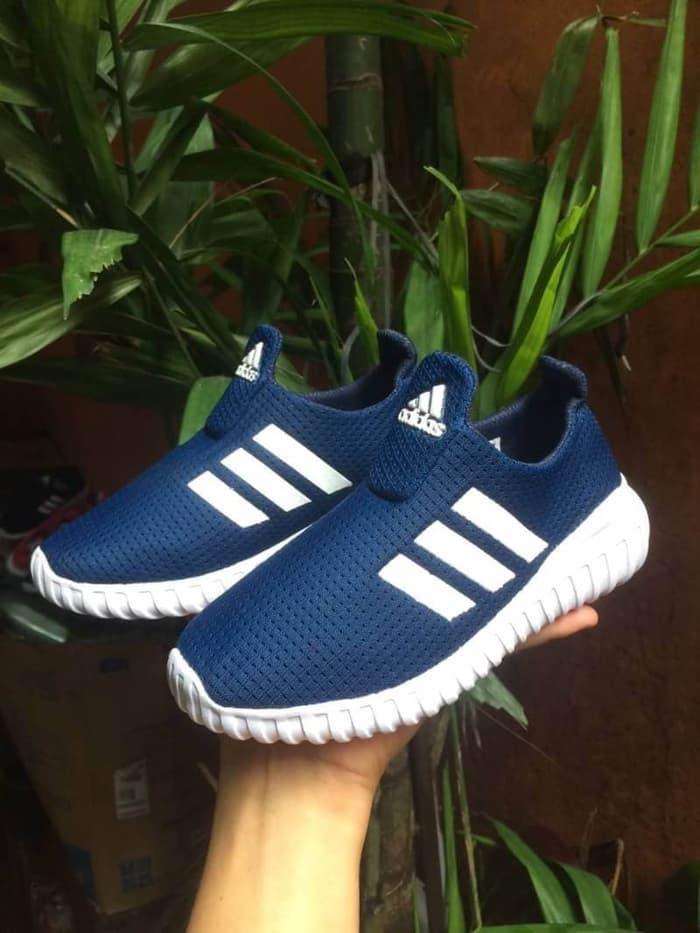 Sepatu Anak - Adidas Slop Navy White - Go