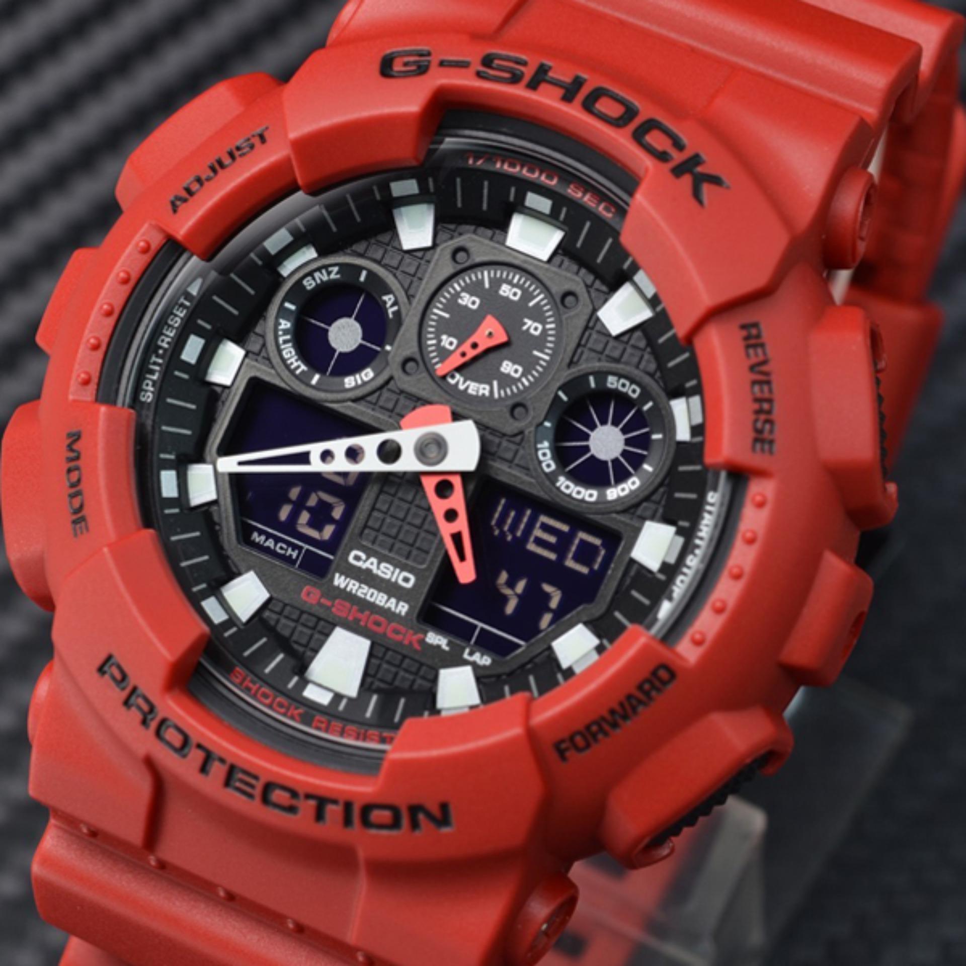 Casio G Shock Pria Hitam Damar Tali Jam Ga 1 100 9 Daftar Harga Gd 120mb 1dr Tangan Black Red Strap Resin Analog Digital 100b Series Karet