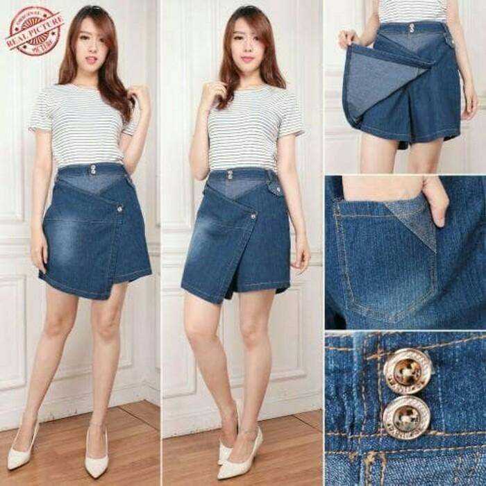 TJ Collection Celana Rok Febby Hot Pants Jeans Wanita Jumbo