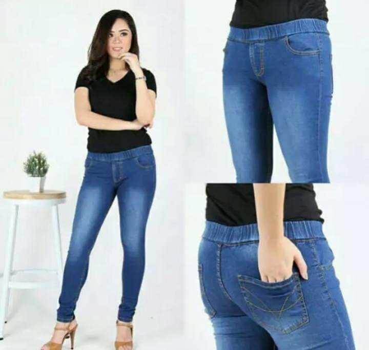 Atasan Jeans Wanita Jumbo