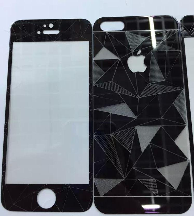 Aldora Tempered Glass iPhone 6 3D Motif Diamond 360 Series Premium Quality Packing Mika + Bubble