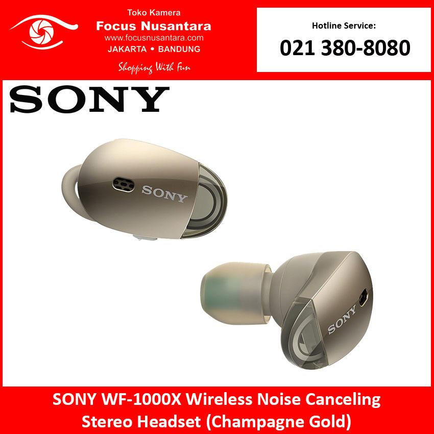 SONY WF-1000X Stereo Headset (Champagne Gold)