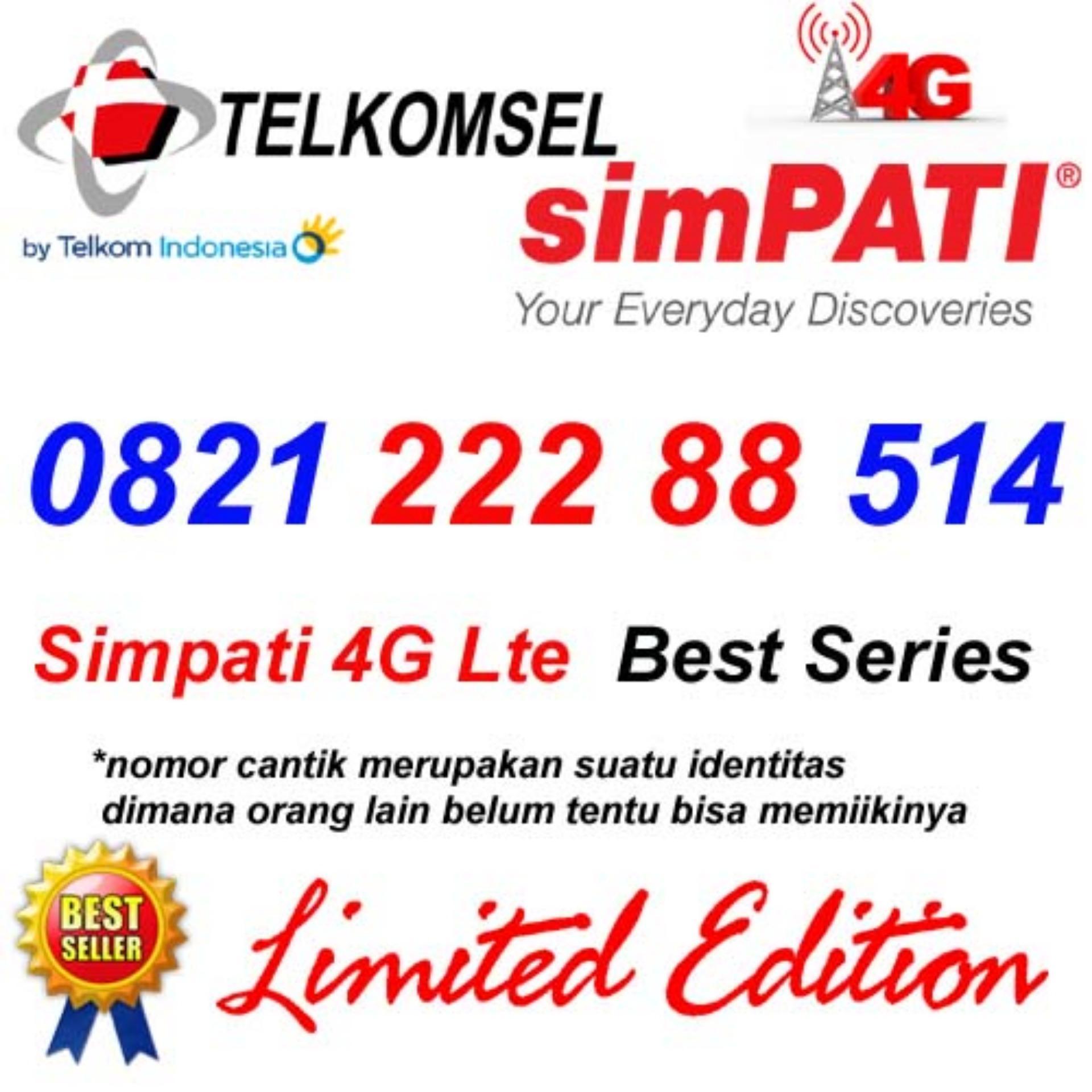Telkomsel Simpati 4G Lte 0821 222 88 514 Kartu Perdana Nomor cantik