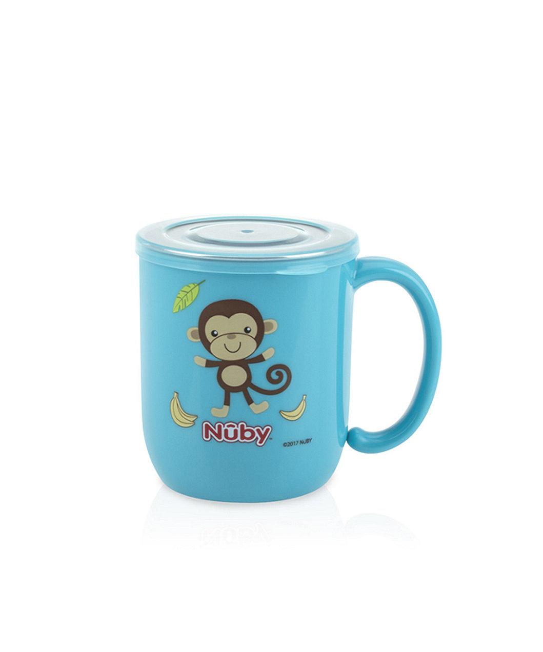 Nuby Stainless Mug With Lid Monkey