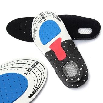 Yika Gel Ortotik Olahraga Sol Dalam Sepatu Lari Bantalan Sepatu Pad Arch Bantalan Penyangga KY (