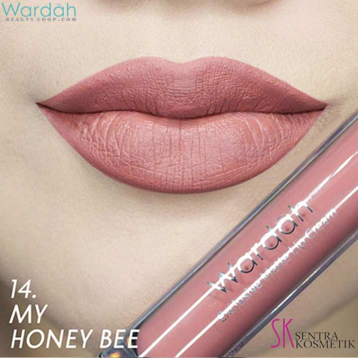Wardah EXCLUSIVE MATTE LIP CREAM No 14 - MY HONEY BEE