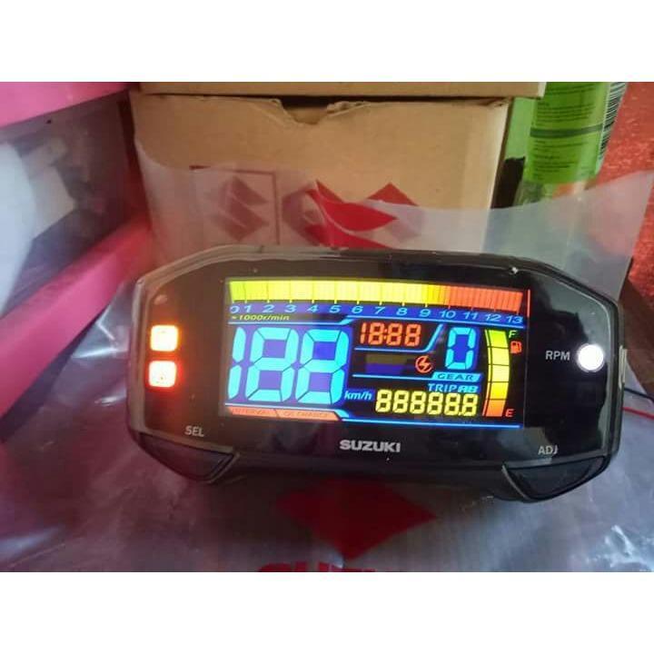KACA SPION STANG JALU AKSESORIS SEPEDA MOTOR FULL CNC BULAT GOLD. Source · Stiker speedometer