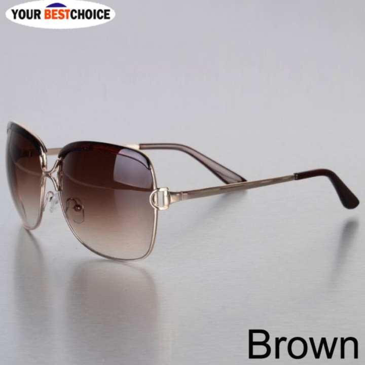 YBC Women bingkai logam Sunglasses Alloy kaki kacamata