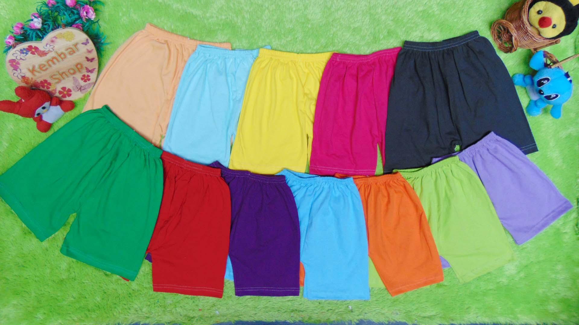 kembarshop - SUPER HEMAT Selusin Celana Pendek Anak bayi batita all size 1-3th RAINBOW