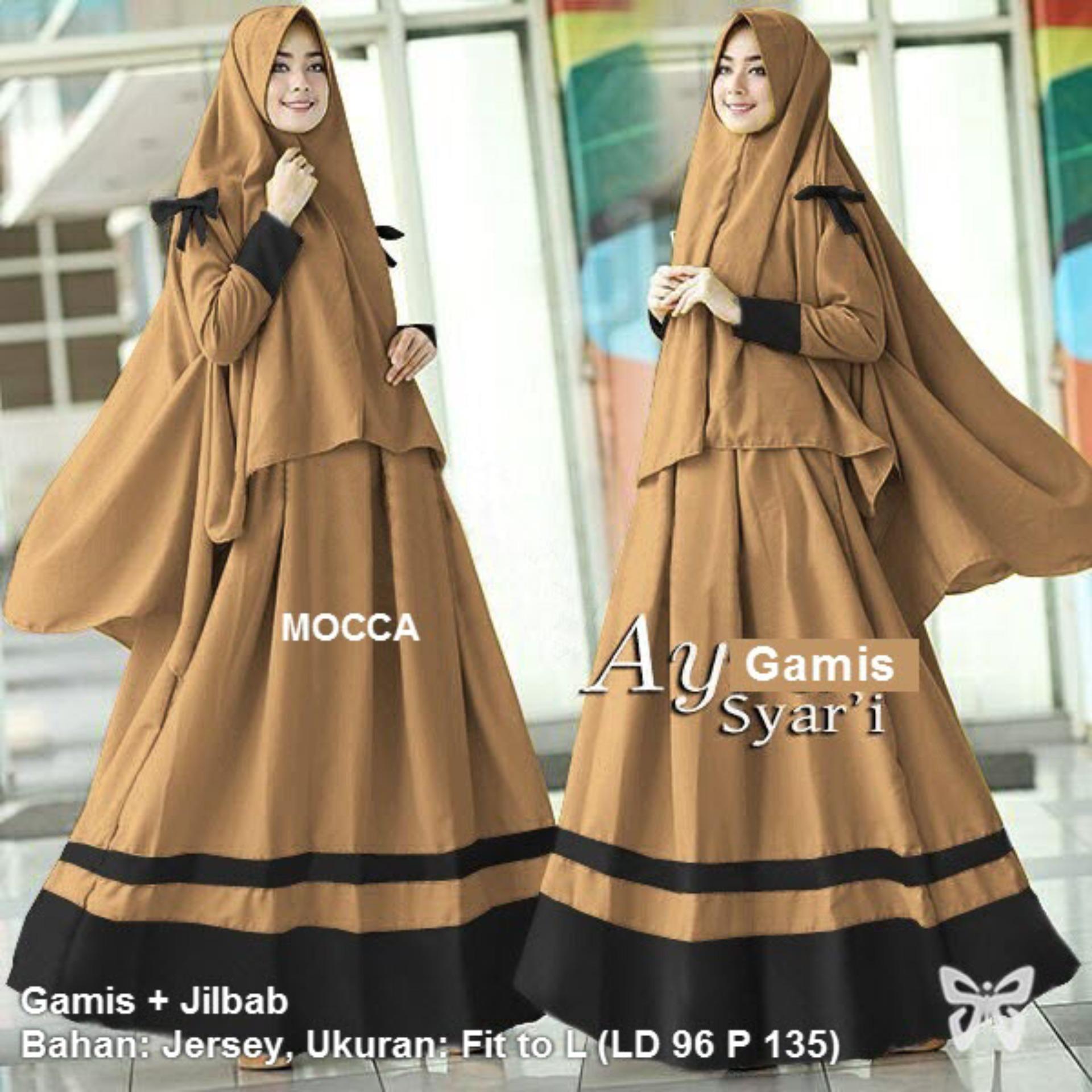 Flavia Store Gamis Syari Set 2 In 1 Plus Jilbab Fs0287 Hijau