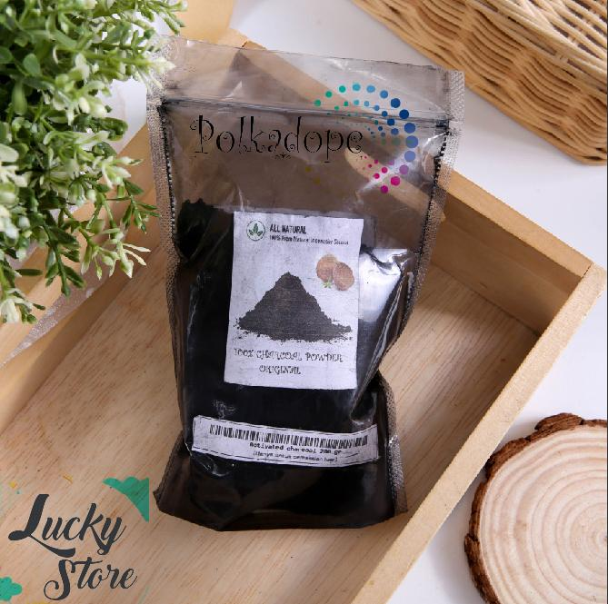 charcoal powder baby pouch -200gr texture kasar