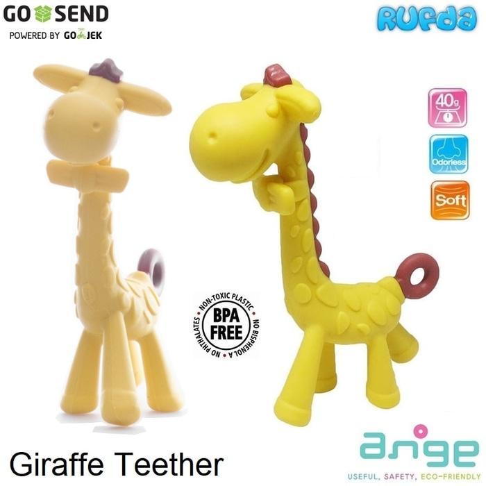 BEST SELLER Ange Giraffe Teether Gigitan Bayi Bentuk Jerapah Made in Korea - syrauIry