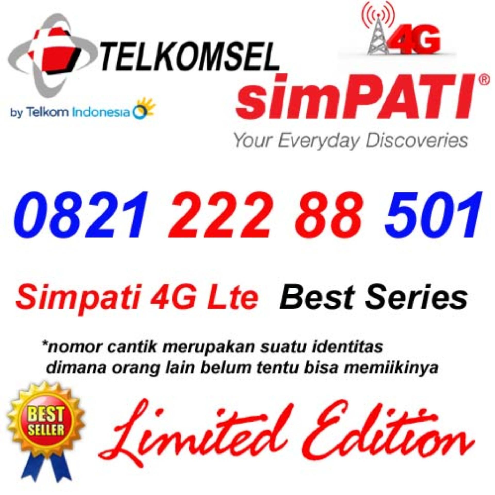 Telkomsel Simpati 4G Lte 0821 222 88 501 Kartu Perdana Nomor cantik