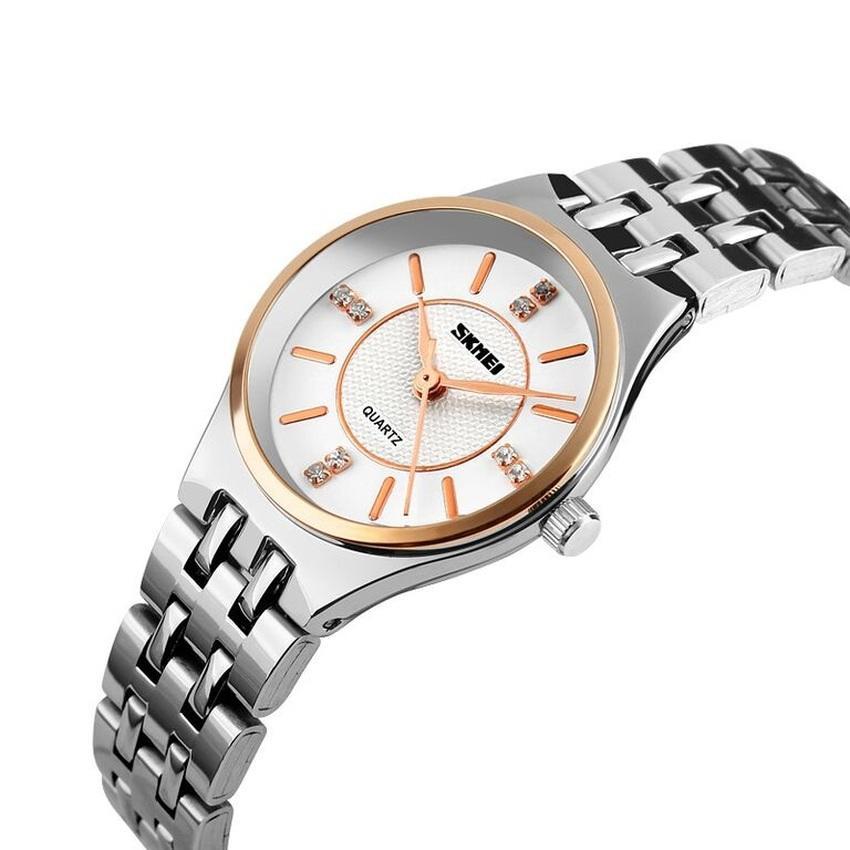 SKMEI Woman Fashion Watch 1133CS Water Resistant Anti Air WR 30m Jam Tangan Wanita Ladies Tali Strap Besi Stainless Wristwatch Wrist Watch Elegan Design ...